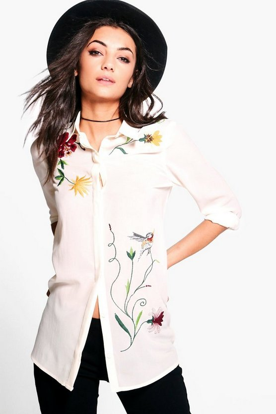 Tall Thea Embroidered Shirt