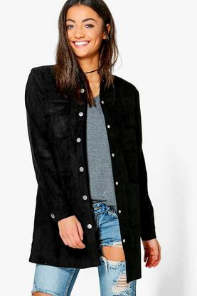 Tall Salena Suedette Utility Jacket