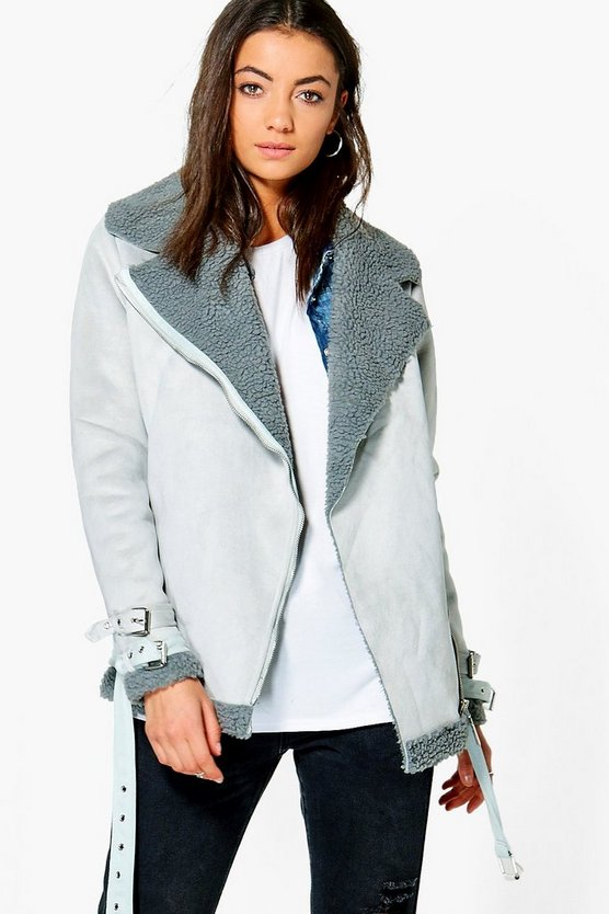 Tall Sadira Bonded Aviator Jacket