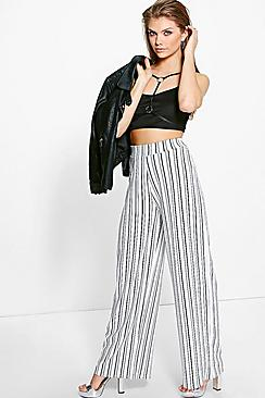 Tall Skye Stripe Wide Leg Trousers