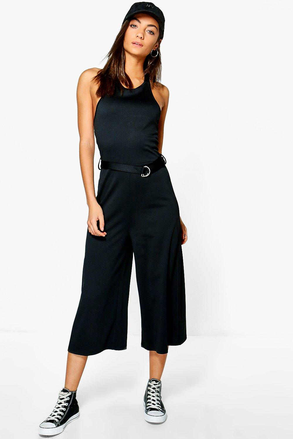 Tall Cherie Buckle Detail Culotte Jumpsuit