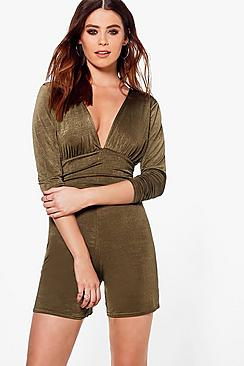Tall Suki Slinky Plunge Playsuit