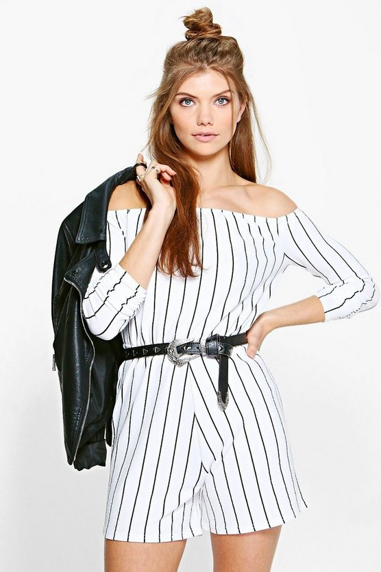 Tall Cerys Stripe Playsuit