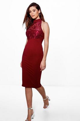 Tall Luna Lace Low Back Dress