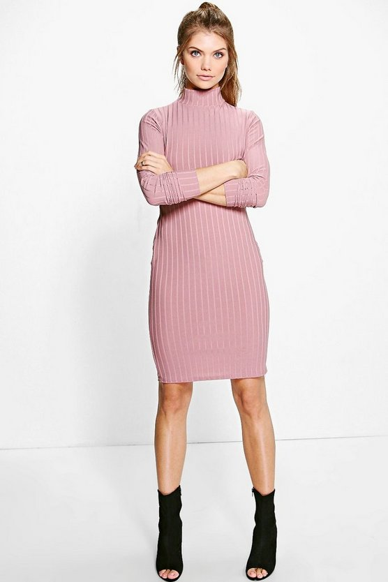 Tall Leya Ribbed Bodycon Dress