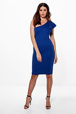Tall Hattie One Shoulder Ruffle Dress