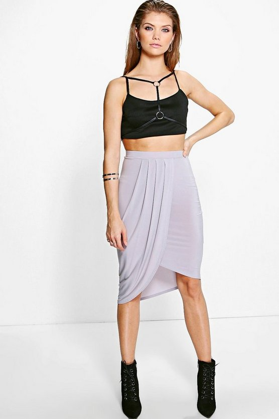 Tall Haviva Wrap Front Skirt