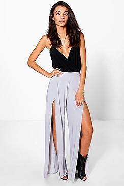 Tall Harika Split Leg Slinky Trousers