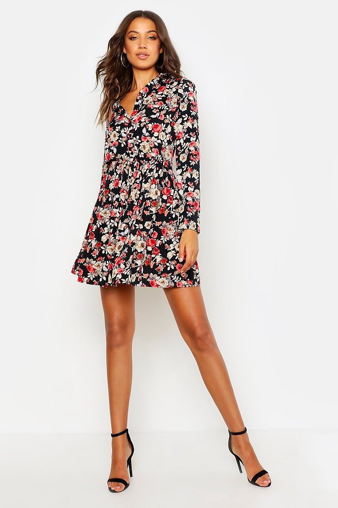 Tall Raya Floral Shirt Dress