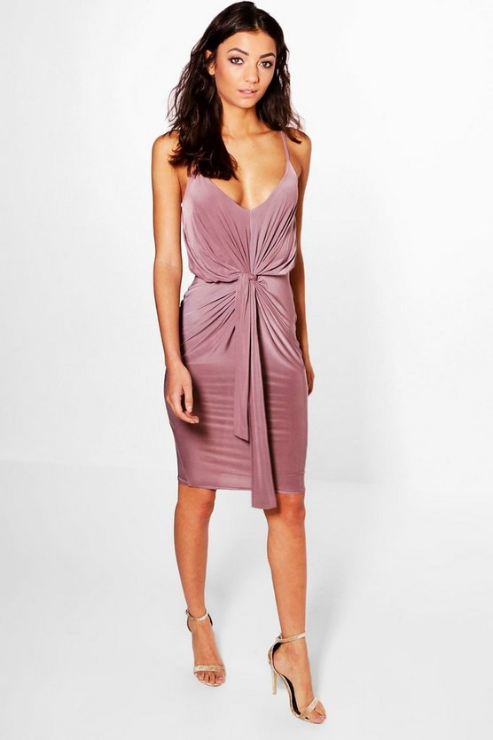 Tall Leila Slinky Knot Detail Bodycon Dress