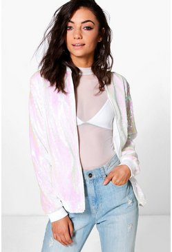 Tall Lana All Over Sequin Bomber