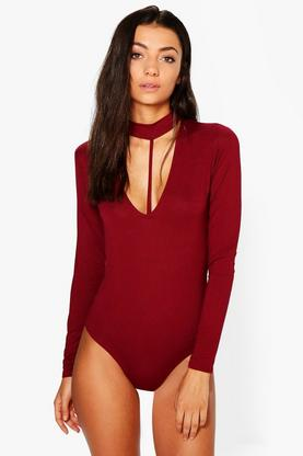 Tall Sade Choker Strappy Detail Bodysuit