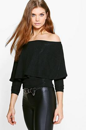 Tall Rocio Off The Shoulder Ruffle Top