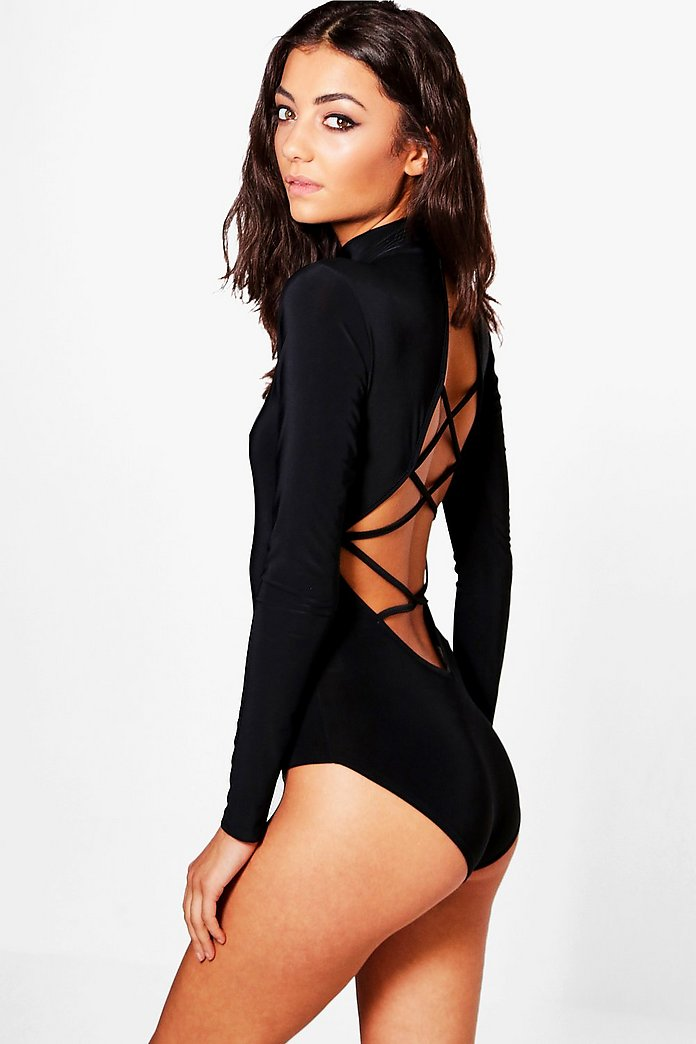 Tall Ruri Slinky Strappy Back Bodysuit