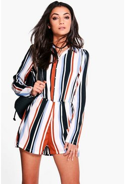 Tall Renee Mixed Stripe Playsuit