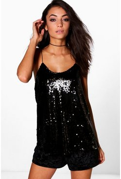 Tall Beline Sequin Cami Top
