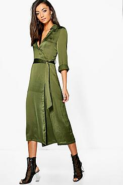 Tall Meila Wrap Front Dress