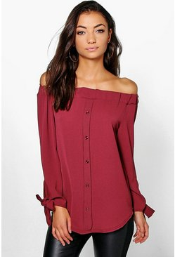 Tall Marea Off The Shoulder Woven Top