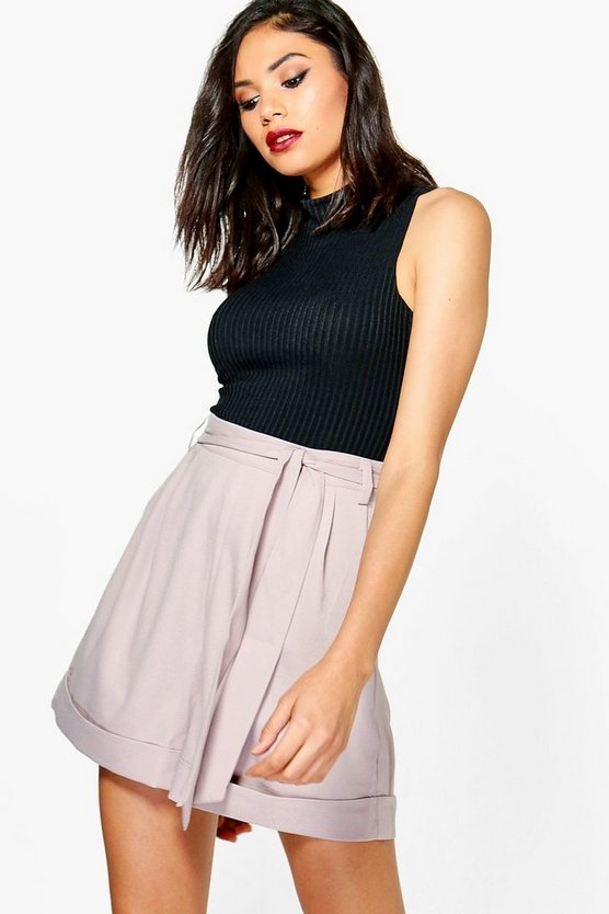 Tall Maelea Tie Belt Woven Shorts