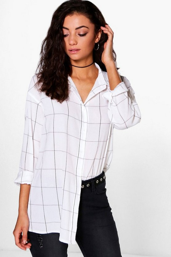Tall Maree Oversized Checked Shirt