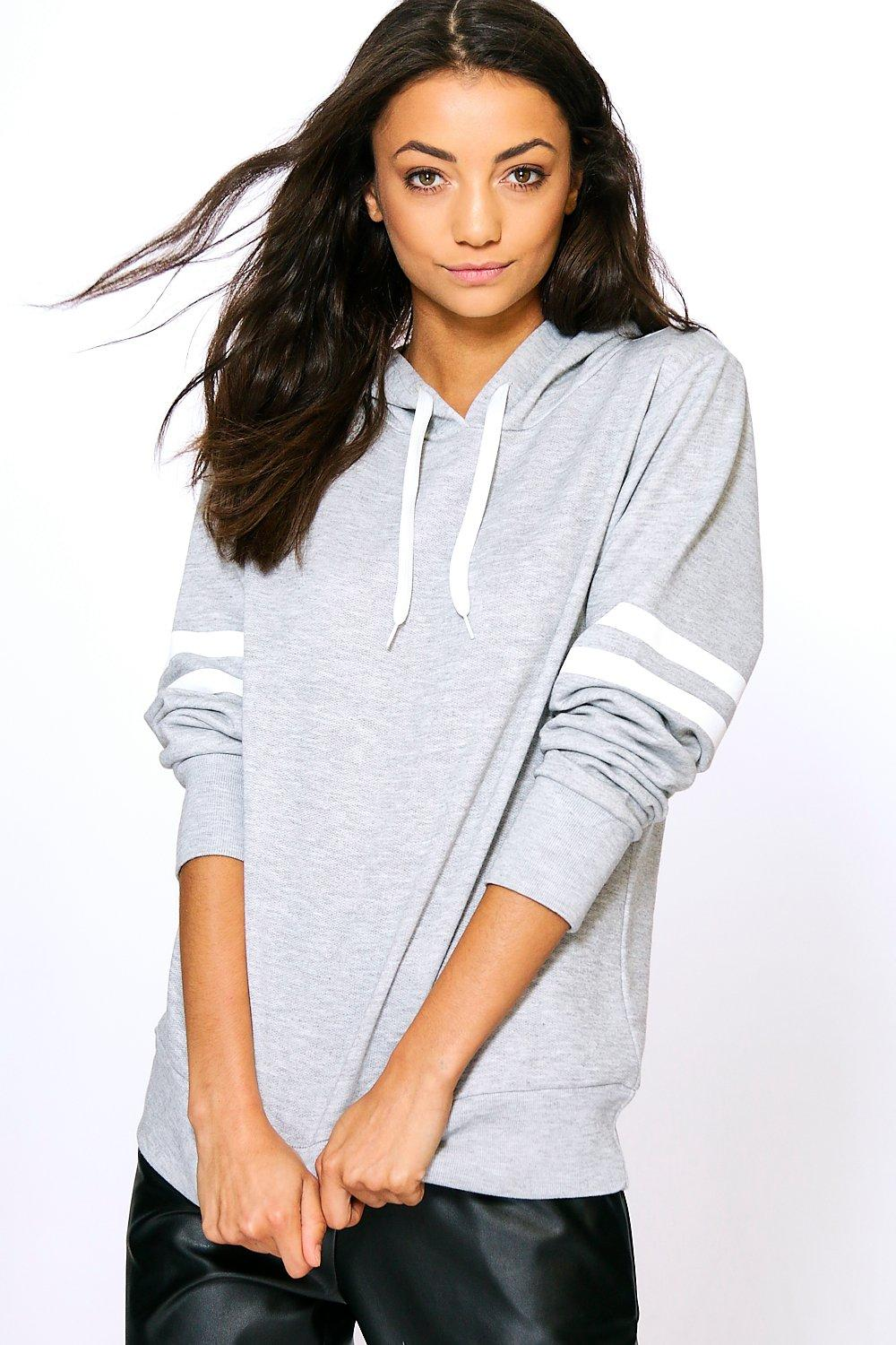 Tall Ruelle Sleeve Stripe Hoody