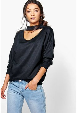 Tall Rylee Choker Neck Sweatshirt