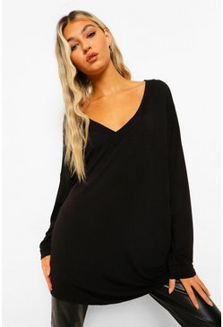 Tall Riane Oversized Long Sleeve Top
