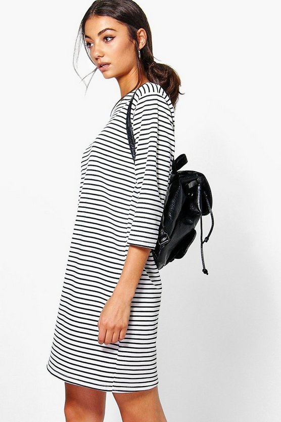 Tall Ramina Striped Sweat Dress