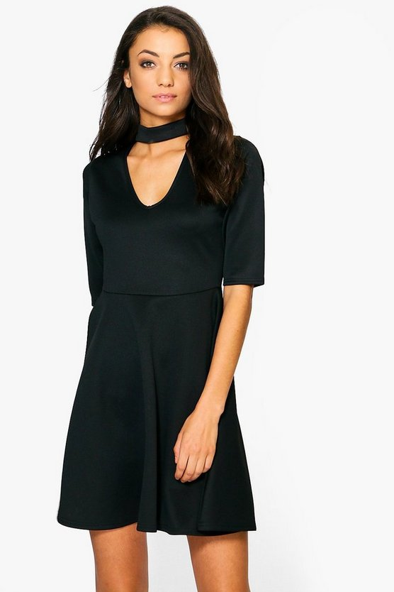 Tall Resh Choker Skater Dress