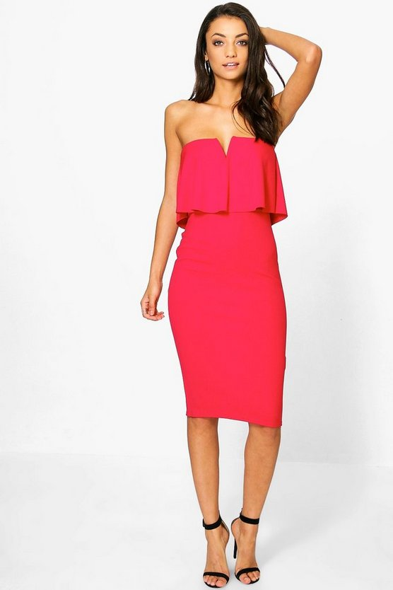 Tall Sebra Ruffle Midi Dress