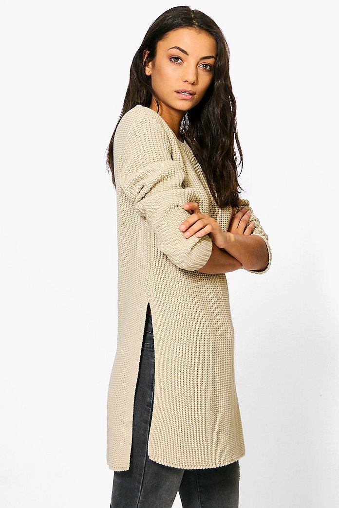 Tall Sara Split Side Longline Jumper