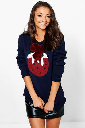 Tall Leah Christmas Pudding Jumpers