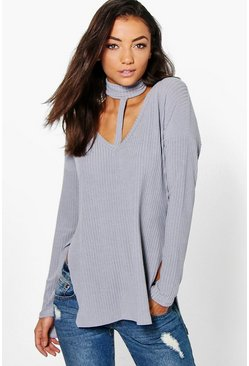 Tall Sahari Soft Rib Choker Neck Top