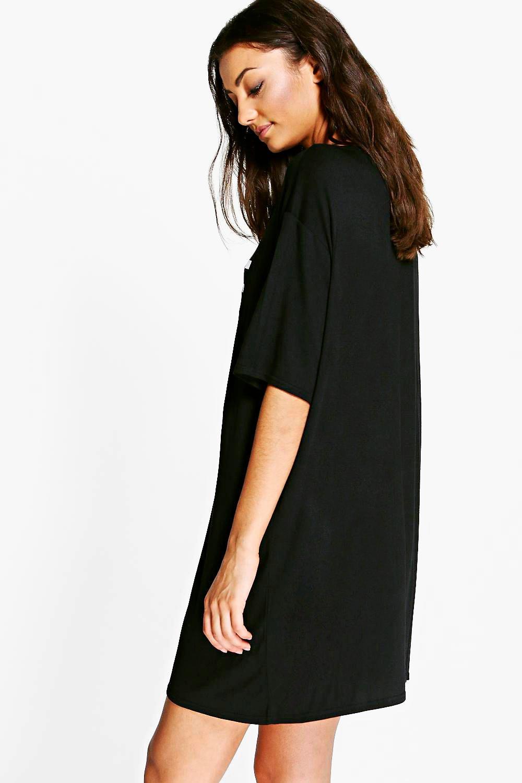 Boohoo Womens Tall Vela Slogan Oversized Night T Shirt Ebay