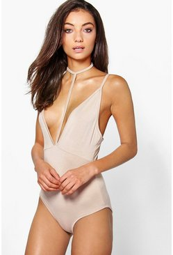 Tall Renae Deep Plunge Harness Strap Body