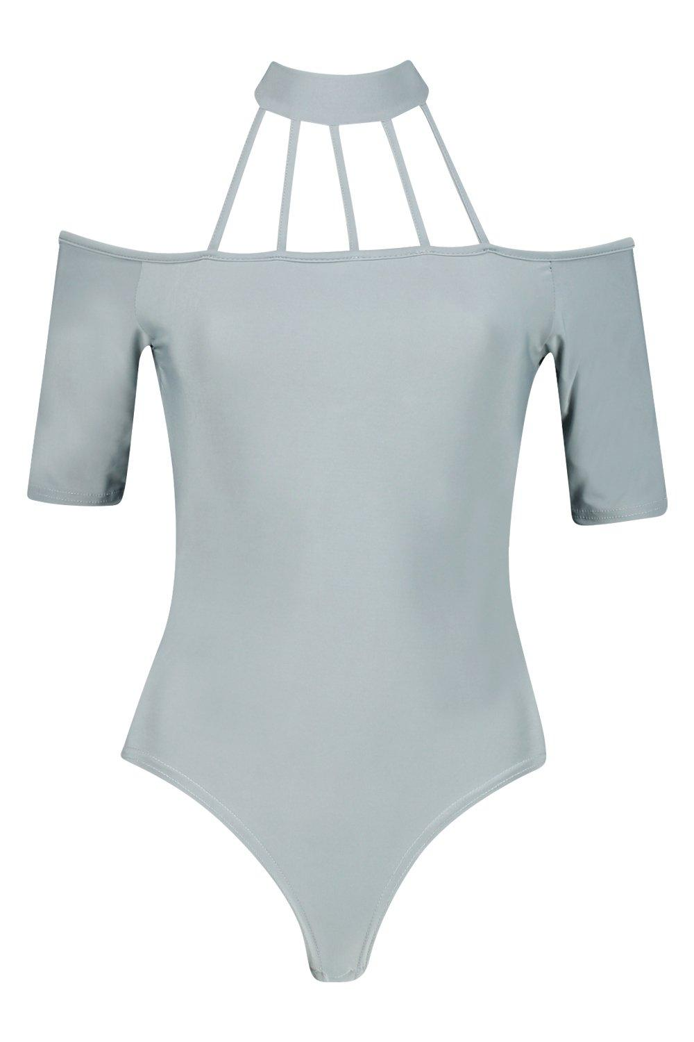 NEW-Boohoo-Womens-Tall-Ria-Caged-Detail-Strappy-Slinky-Body-in