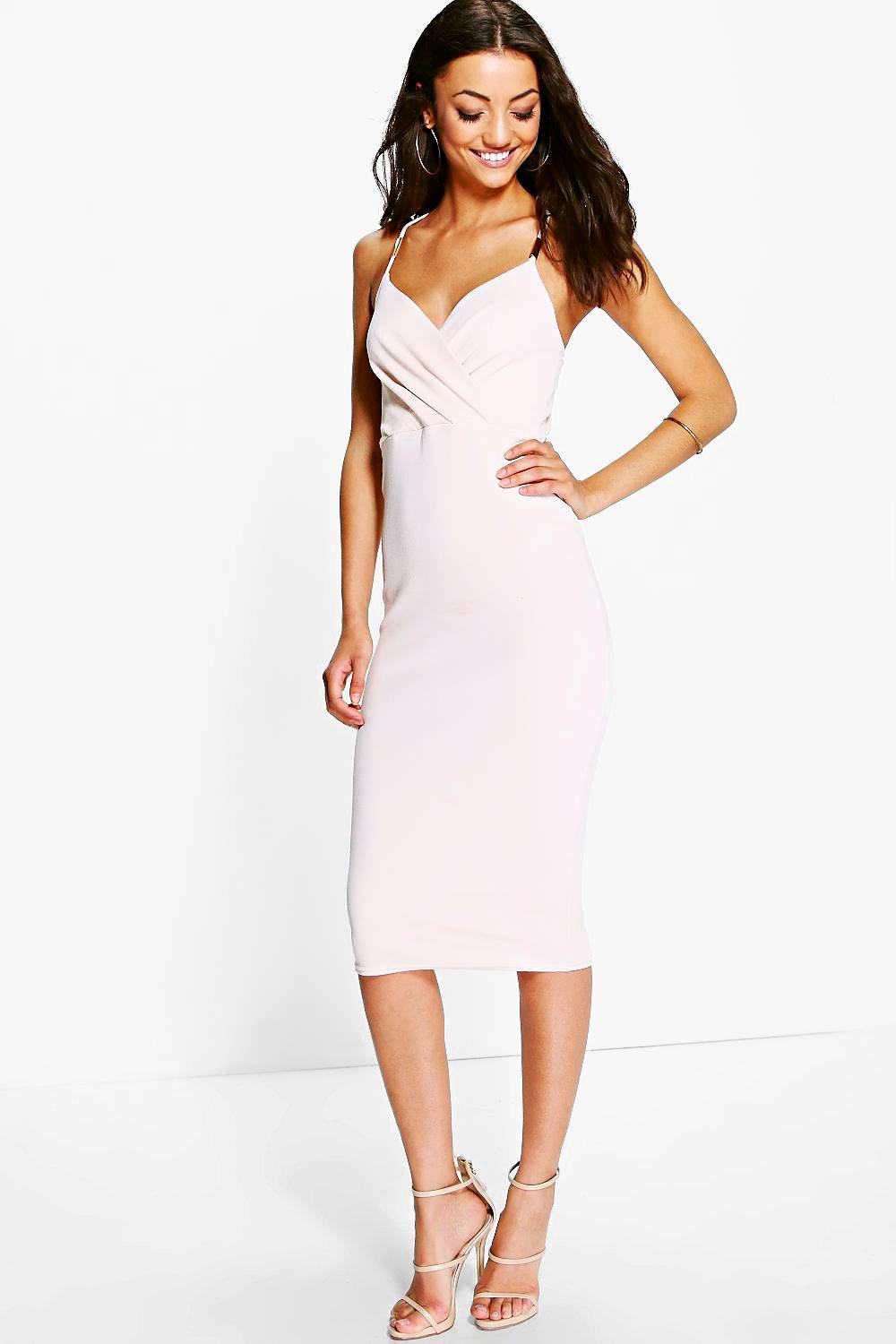 Tall Sara Trim Wrap Front Midi Dress
