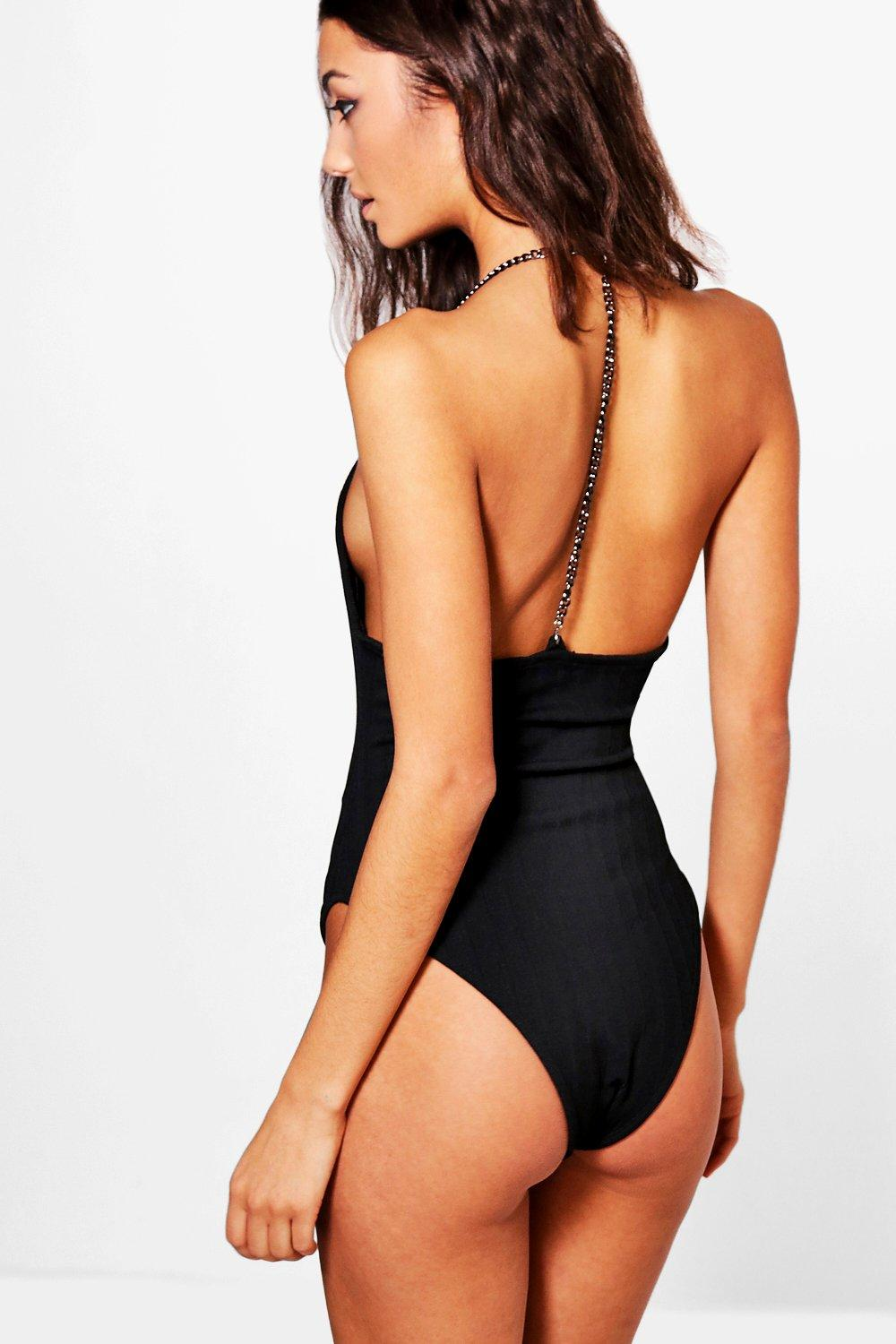 Tall Aanisah Premium Ribbed Chain Caged Back Body