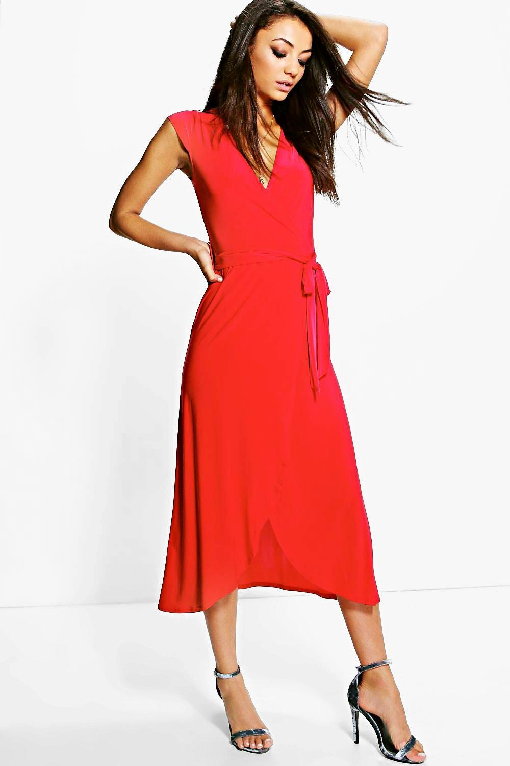 Tall Shamira Slinky Wrap and Tie Midaxi Dress