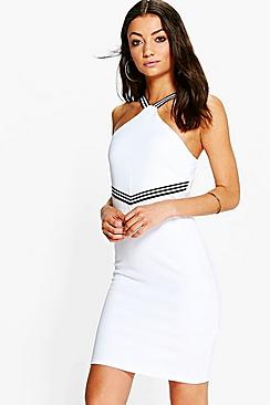 Tall Sadelle Sports Rib High Neck Rib Bodycon Dress