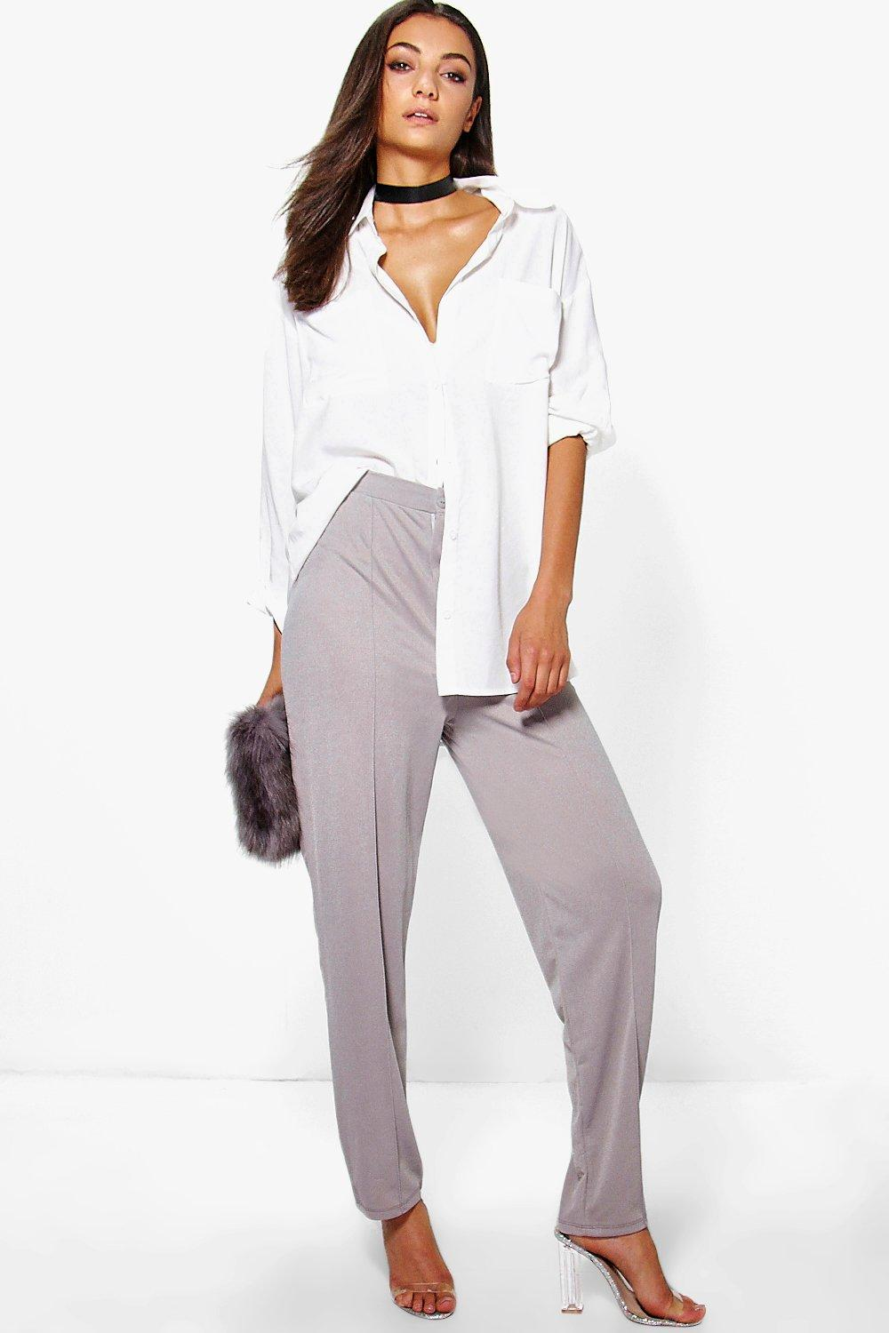 Tall Lavina Pintuck Seam Detail Tailored Trousers