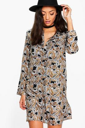 Tall Belle Paisley Print Shirt Dress