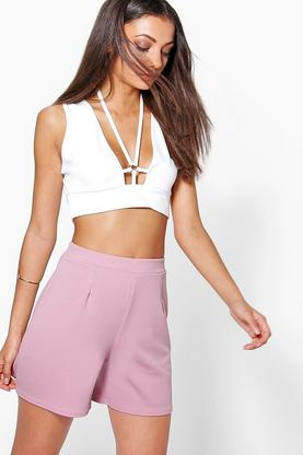 Tall Jennie Textured Pleat Tailored Shorts