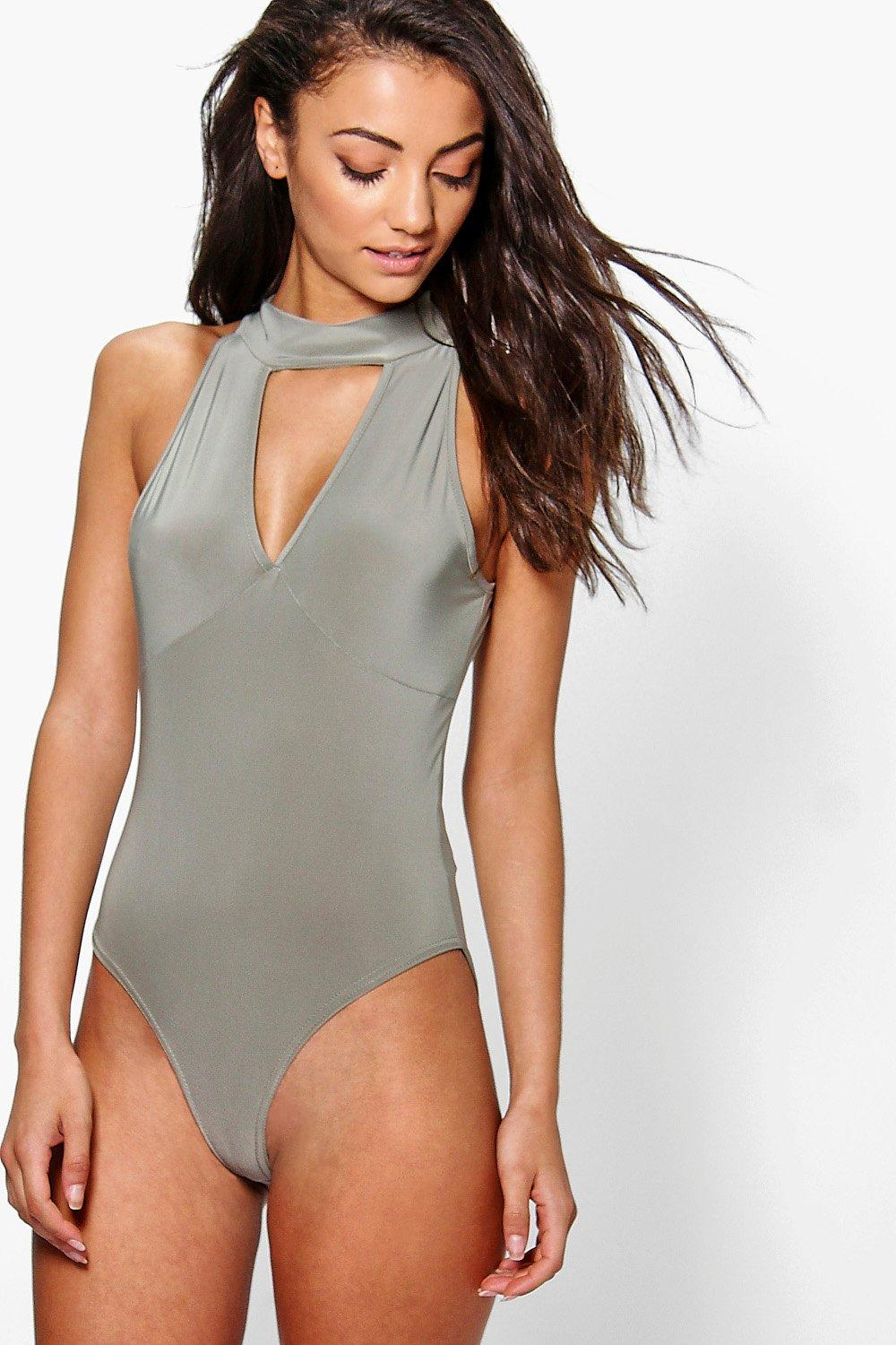 Tall Loula Slinky Plunge Cut Out Neck Body