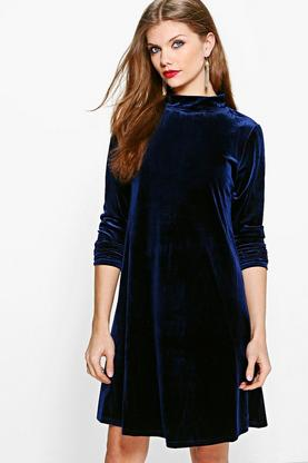 Tall Olivia Velvet Keyhole Detail Dress
