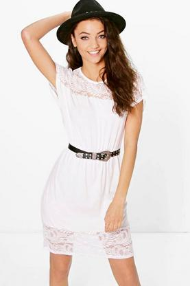 Tall Isabelle Lace Trim Dress
