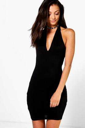 Tall Naomi Basic Plunge Dress