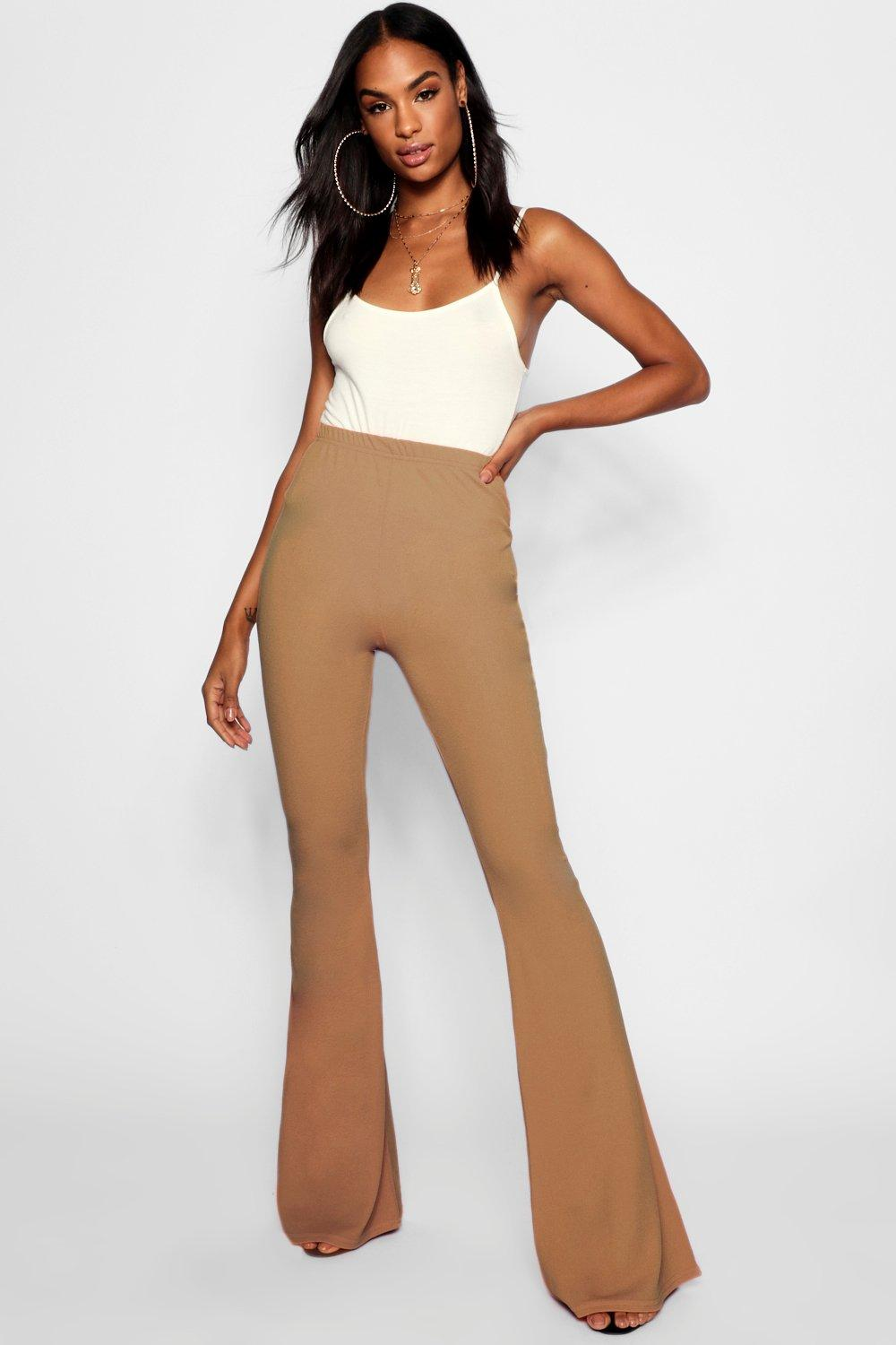 Elspeth Basic Stretch Skinny Flare camel