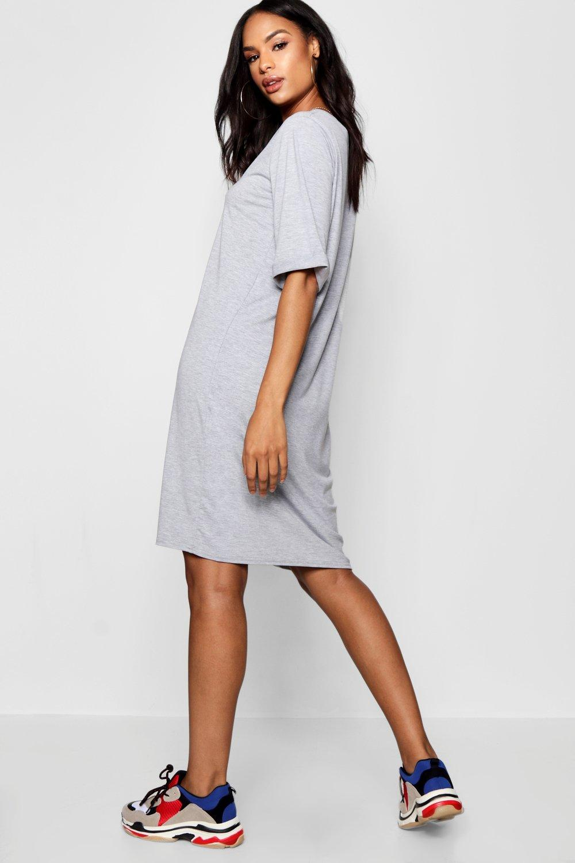 Boohoo Womens Tall Leanne Turn Cuff Oversized T Shirt