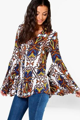 Tall Octovia Paisley Print Button Floral Shirt